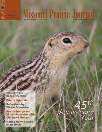 Fall & Winter 2011: Volume 32, Numbers 3 & 4 - Missouri Prairie ...
