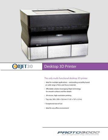 Desktop 3D Printer - Proto3000