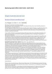 Monitoring médií 20. – 26. 7. 2013 - Vysoká škola výtvarných umení
