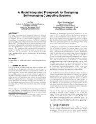A Model Integrated Framework for Designing Self-managing ...