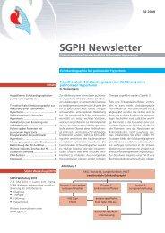 Echokardiographie bei pulmonaler Hypertonie - SGPH