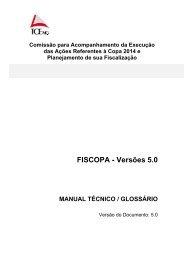 Manual técnico/Glossário - Governo do Estado de Minas Gerais