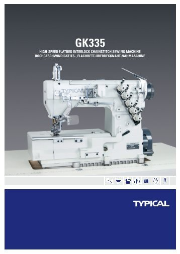 hiGh-speed flatbed interlocK chainstitch sewinG machine ... - Typical