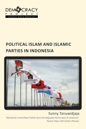 Project POLITICAL ISLAM AND ISLAMIC PARTIES IN INDONESIA