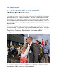 Stort utbytte av skoleledertur til New Zealand - Bamble kommune