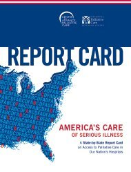AMERICA'S CARE - Report Card - Center to Advance Palliative Care