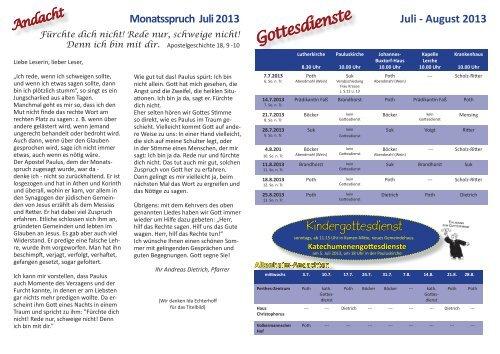 Gemeindebrief Juli-August 2013.pdf - Der Schiefe Turm