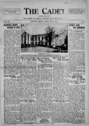 The Cadet. VMI Newspaper. February 25, 1929 - New Page 1 ...