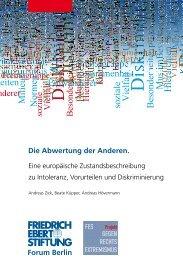 Die Abwertung der Anderen. Forum Berlin - Friedrich-Ebert-Stiftung ...