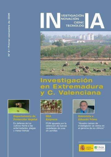 Investigación en Extremadura y C. Valenciana - Inia