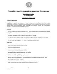 Description Of BMPs - Texas Commission on Environmental Quality
