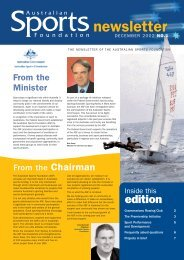 ASF Newsletter - December 2002 - Australian Sports Foundation