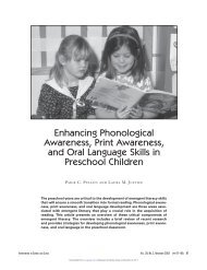 Enhancing Phonological Awareness, Print ... - iVent Services