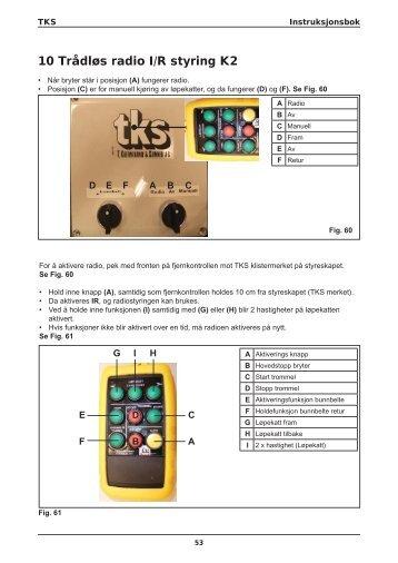 K2 CombiCutter Radio IR styring - TKS AS