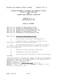 chapter 305-7-11 certificates of use - Alabama Administrative Code