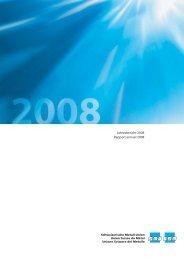 Jahresbericht 2008 - Schweizerische Metallunion