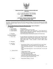 Laporan Harian 20 September 2009 - BNPB