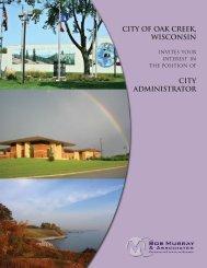 CITY Of OAK CREEK, WISconsin - Bob Murray & Associates