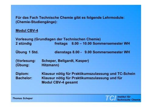 Technische Chemie - TCI @ Uni-Hannover.de