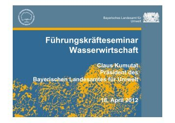 Führungskräfteseminar Wasserwirtschaft - ipse-service.de