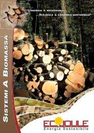 Ecojoule - Energia Sostenibile | Brochure Generale Biomasse - Edilio