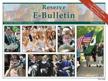 summer e-bulletin 09 v2 - Western Reserve Academy
