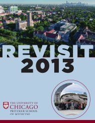 Revisit 2013 Schedule - Pritzker School of Medicine - University of ...
