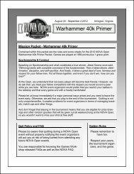 Warhammer 40k Primer - NOVA Open