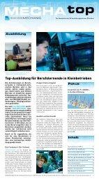 Top-Ausbildung für Berufslernende in Kleinbetrieben - Swissmechanic