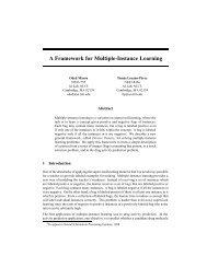 A Framework for Multiple-Instance Learning