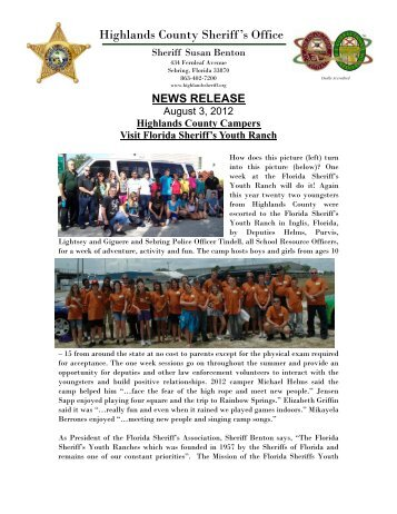 08-03-2012 Florida Sheriffs Youth Camp - Highlands County ...