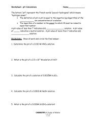 Mole/Mole Problems Worksheet