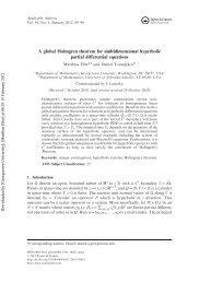 A global Holmgren theorem for multidimensional hyperbolic partial ...