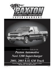 GM 8.1 HD Truck/SUV - Paxton Superchargers