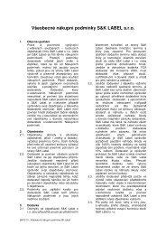 Všeobecné nákupní podmínky S&K LABEL s.r.o. - Etikety S&K LABEL