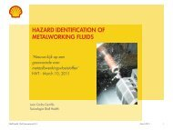 HAZARD IDENTIFICATION OF METALWORKING FLUIDS