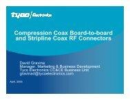 Compression Coax Board-to-board and Stripline Coax ... - TTI Europe