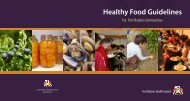 Healthy Food Guidelines - First Nations Health Council