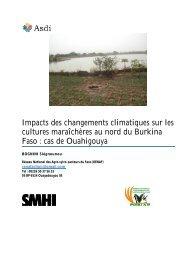 Impacts des changements climatiques sur les cultures ... - weADAPT