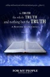 The TRUTH book Volume 1 (PDF) - For My People Ministry