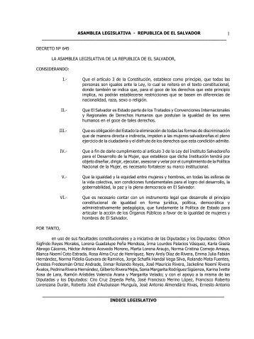 Ley de Igualdad, Equidad y - Procuraduría General de la República ...