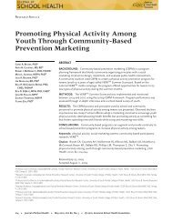 Promoting Physical Activity Among Youth Through Community ...