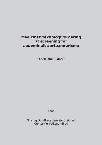 Sammenfatning af Medicinsk teknologivurdering af screening for ...