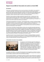Rapport annuel 2006 - Nationale Informationsstelle für Kulturgüter ...