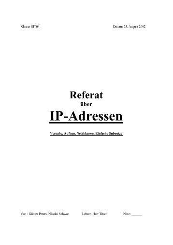 Referat IP-Adressen