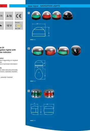 18 1 2 3 Series 24 Navigation lights with tell-tale indicator ... - Ysebaert