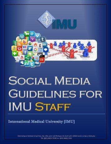 Staff Guidelines - IMU Learning Portal - International Medical ...