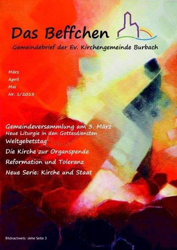 Das Beffchen - Evangelische Kirchengemeinde Saarbrücken Burbach