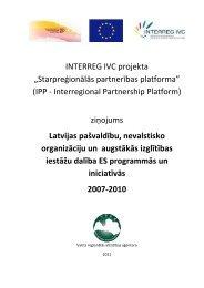 Latvijas pašvaldību, nevalstisko organizāciju un augstākās izglītības ...