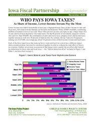 WHO PAYS IOWA TAXES? Iowa Fiscal Partnership backgrounder